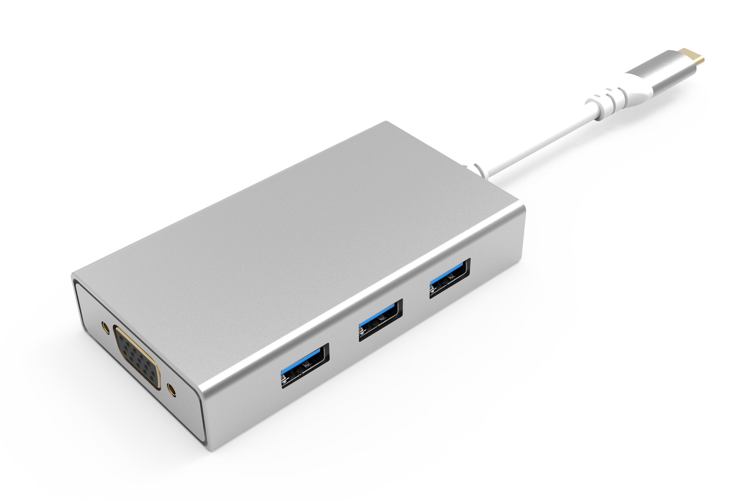 UC1602 8 Ports USB-C Hub Dual Display HDMI + VGA