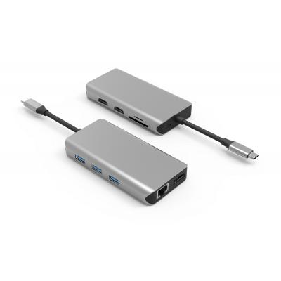 UC0211  10 Ports USB-C Hub Triple Display HDMI + HDMI + DP