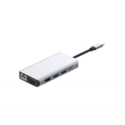 UC0212  10 Ports USB-C Hub Dual Display HDMI + VGA