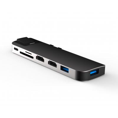 UC2102  8 Ports Dual USB-C Hub with Dual HDMI for MacBook's MST