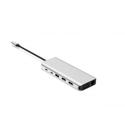 UC0218  14 Ports USB-C Hub Triple Display  HDMI + HDMI + VGA